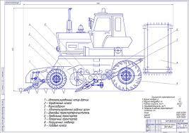 Диплом модернизация выкапывающего органа комбайна КСН  Чертеж общего вида модернизации КСН 6