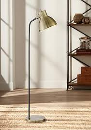 arc lighting systems inc. tupper black and antique brass pharmacy downlight floor lamp arc lighting systems inc a
