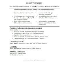 Dance Resume dance resume examples nicetobeatyoutk 46