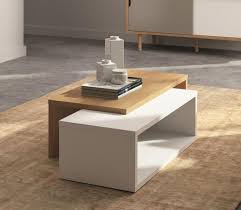 temahome jazz extending coffee table in white and oak thumbnail