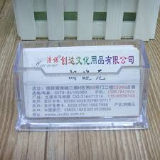 Business Cards Display Stands Hot Sale Plastic Business Card Holder Transparent Card Display 56