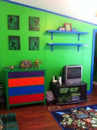 Ninja Turtle Bedroom Decor Ninja Turtle Room Finally Finished With Spray Painted Dresser And
