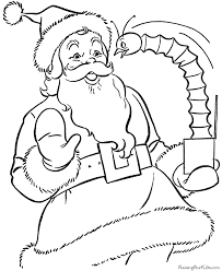 Small Picture Free Printable Santa Coloring Pages 007