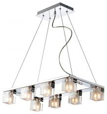 derby linear suspension lbl. Blocs 8-Light Pendant Contemporary-kitchen-island-lighting Derby Linear Suspension Lbl