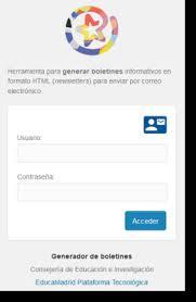 Formatos De Boletines Informativos Generador De Boletines Educamadrid Ayuda