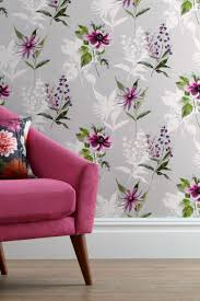 Pink And Purple Wallpaper For A Bedroom Buy Vibrant Floral Paste The Wall Wallpaper From The Next Uk
