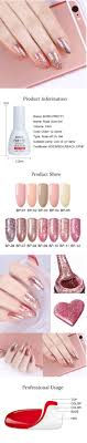 Details About Born Pretty Bling Rose Gold Color Glitter Soak Off Uv Gel Nail Polish Manicure