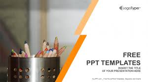 Ppt Templates Education Colour Pencils With Sharpening Shavings Powerpoint Templates Free