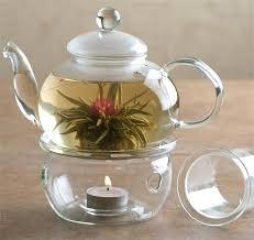 glass teapot with warmer whittards glass teapot