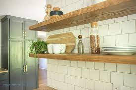 Mounting Floating Shelves How to Install Heavy Duty Floating Shelves for the Kitchen 30