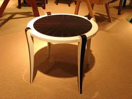 ebony wood furniture custom made ebony and parchment side table ebony wood