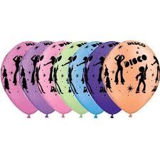 <b>Disco Balloons</b> Neon Asst - 11 Inch Balloons 25pcs