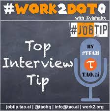 Interview Tip Jobtip Top Interview Tip To Help Crack That Job Interview