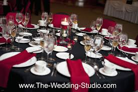 ... Black Tablecloths For Wedding Fresh Black Table Cloth Red Napkins A  Dash Of Red Rose Petals ...