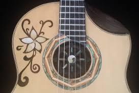 Guitar Design Handcrafted Kg Classic Guitar No 1 Lotus Flower