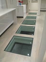 ceramic glass frit for anti slip traction control in a glass floor project in kansas