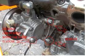 remove install power steering pump mercedes benz the two bolts on the back that you need to remove you can easily see