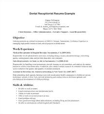 Medical Receptionist Resume Template Best Resume Of Receptionist At A Front Desk Front Desk Receptionist