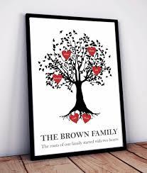 Family Tree Heart Design Example