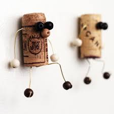 Make these quirky upcycled cork magnet crafts and give them to a loved one  as a