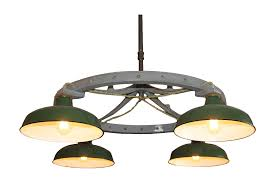 industrial lighting chandelier. Industrial Green Porcelian Shade Chandelier, Original Lighting Chandelier