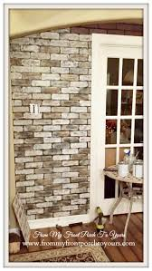 diy faux brick wall tutorial from my front porch to yours