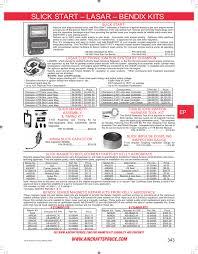 Slick Magneto Application Chart Page 343 Slick Start Lasar Bendix Kits Slick Start