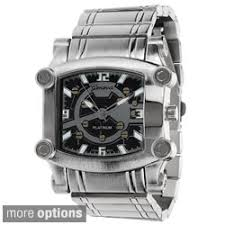 geneva platinum men s square face polished link watch geneva platinum men s square face polished link watch shipping on orders over 45 overstock com 15504407