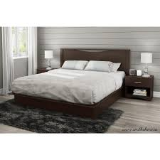 south shore step one drawer kingsize platform bed in chocolate