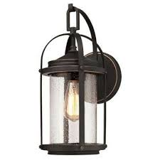 grandview 1 light oil rubbed bronze with highlights outdoor wall mount lantern