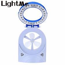 modern 3 in 1 led portable rechargeable battery fan light eye protection desk lamp flashlight