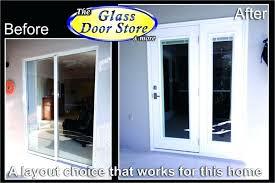 sliding exterior doors french door replaces small sliding glass door to patio sliding glass barn doors