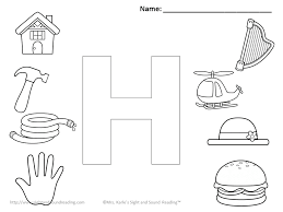 Small Picture Letter H Coloring Pages 7812