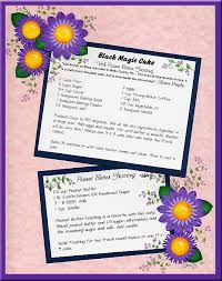 Recipe Page Layout Black Magic Cake Recipe Layout