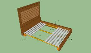 wood bed frame plans