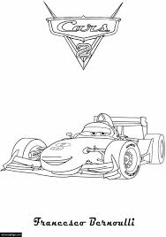 Small Picture Cars 2 Francesco Benoulli Printable Coloring Page eColoringPage