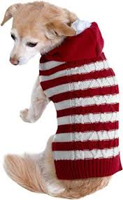 Friends Forever Cozy Knit Ugly <b>Sweater</b> Furry Stripe <b>Pet Dog Cat</b> ...