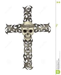 Cross Art Design Art Skull Cross Tattoo Stock Illustration Illustration Of