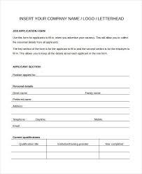 Generic Employment Application Form Threeroses Us