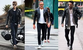 the leather perfecto an asymmetrical lancer fronted motorcycle jacket roars along to a punk rock tune for a blend of biker and badass