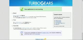 A Database Template Contains Pre Built Using Python With Turbogears
