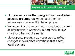 Ppt Major Requirements Of Osha Respiratory Protection