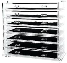 acrylic cosmetic organizer with drawers clear