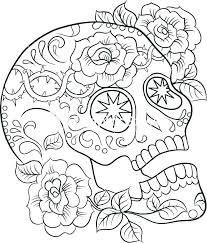 Coloring Pages Skull Coloring Pages Easy Free Printable Sugar