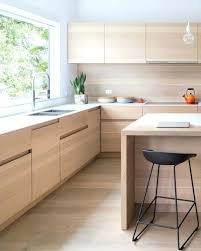 natural wood cabinets modern kitchen glamorous ideas light with white doors