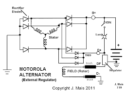 speedy jim s home page aircooled electrical hints internal wiring of motorola alternator w external regulator