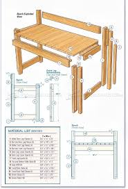 Kitchen Table Plan Kitchen Table And Bench Plans O Woodarchivist