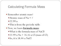 Chemistry 3/11/15 Formula Mass and Molar Mass. Drill Make sure you ...