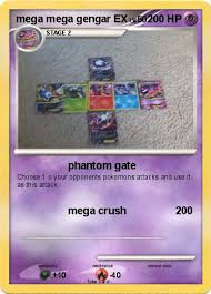 It can mega evolve into mega gengar using the gengarite. Pokemon Mega Mega Gengar Ex