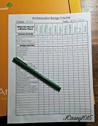 Ambassador Troop Badge Tracker Girl Scout Printables Girl Scouts
